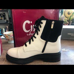 Sam Edelman Combat Boots White